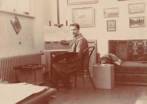 a-zmuidzinavicius-dirbtuveje-prie-molberto_1932