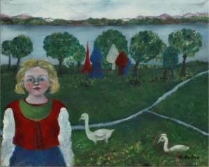 Aldona Gustas. Žąsų mergaitė. 1982 m.