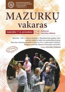 Mazurkų plakatas