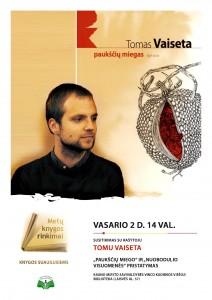 Susitikimas su rašytoju Tomu Vaiseta