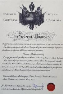 Laipsnio suteikimo diplomas