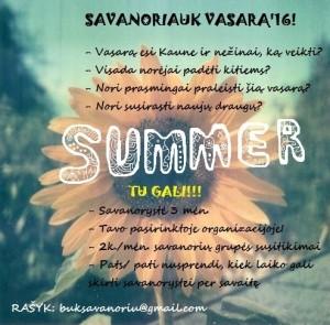vasaros savanoryste 16