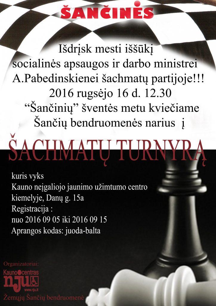 Šančinių šachmatų turnyras 2016 09 16