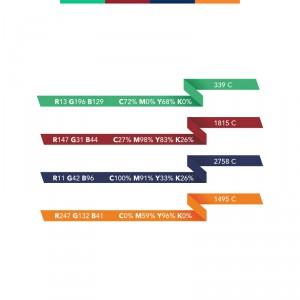 Kaunas dalinasi - spalvų kodai