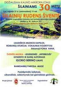 šilainių šventės plakatas